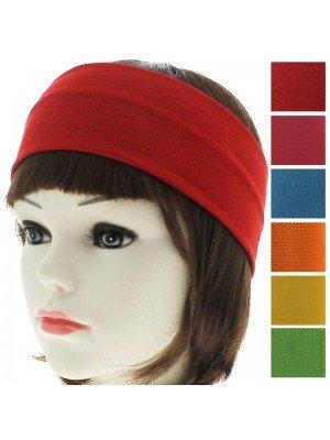 Plain 3cm Headbands - Assorted Bright Colours