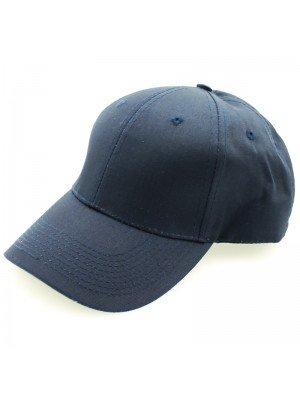 Plain 6 Panel Baseball Caps - Navy