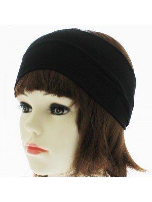 Plain 3cm Wide Headband - Black Velvet