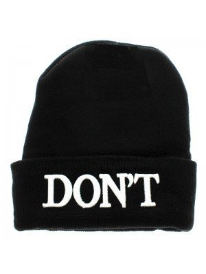 Plain Black Beanie Hat - Don't Design