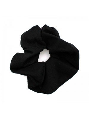 Plain Fashion Scrunchies - Black