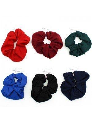 Plain Satin Scrunchies - Assorted Colours