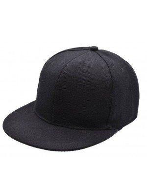 Plain Snapback Cap - Black