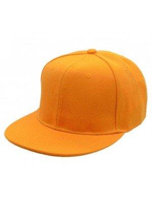 Plain Snapback Cap - Orange