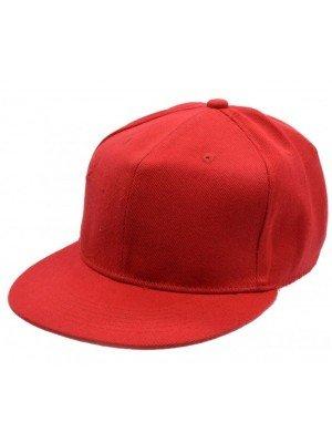 Plain Snapback Cap - Red