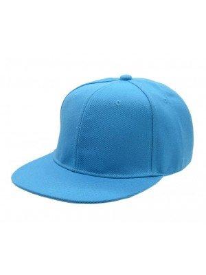 Plain Snapback Cap - Sky Blue