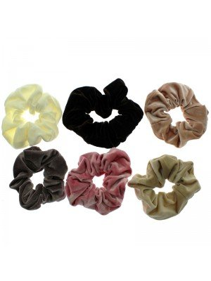 Plain Velvet Scrunchies Assorted Colours