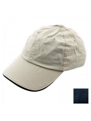 Plain 6 Panel Two-Tone Baseball Cap - Assorted Colours