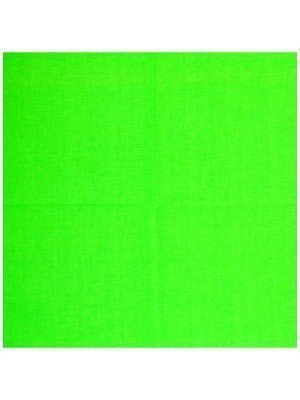 Plain Bandana - Neon Green