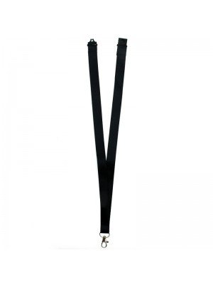 Plain Black Lanyard with Lobster Claw Closure