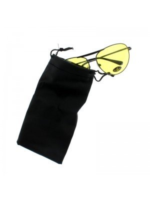 Plain Black Sunglasses Pouch