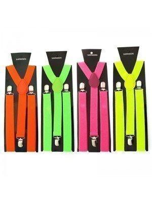 Plain Fashion Braces Assorted Colours (25mm)