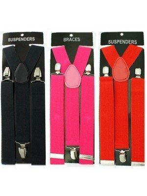 Plain Fashion Braces Assorted Colours (35mm)