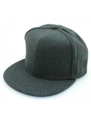 Plain Snapback Cap - Dark Grey