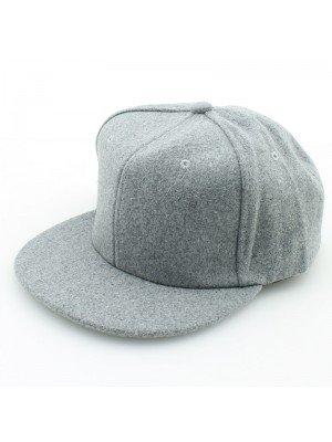 Plain Snapback Cap - Light grey