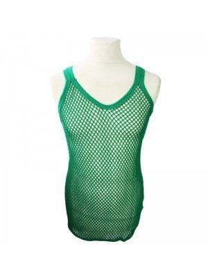 Plain String Vest - Green