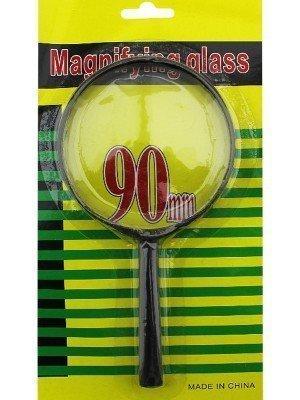 Wholesale Plastic Magnifying Glass 90mm - Black