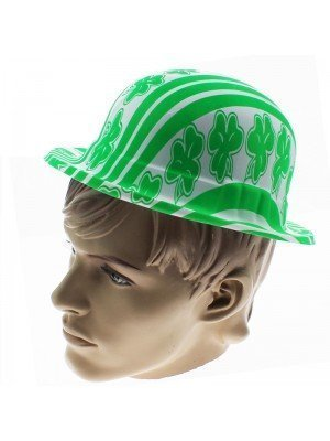 Plastic St. Patrick's Day Style Bowler Hat