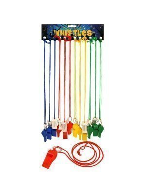 Plastic Whistles On Cord