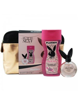 Wholesale Ladies Playboy Play It Sexy Vanity Bag Perfume Gift Set