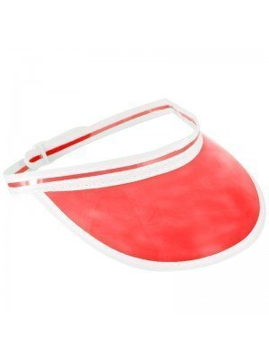 Poker Visor Hat - Red