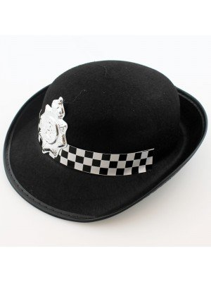 Police Woman Party Black Felt Hat
