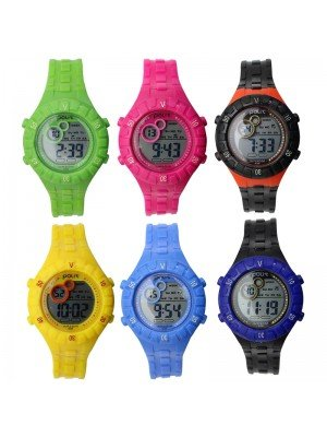Polit Children's Digital Silicon Strap Watch - Assorted Designs