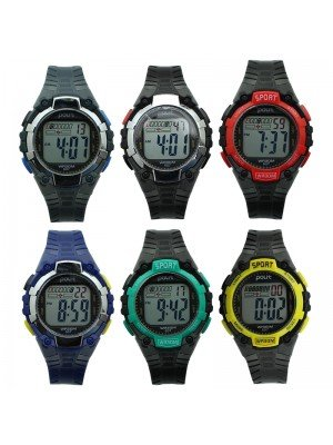 Polit Children's Digital Silicone Strap Sport Watch - Assorted Designs