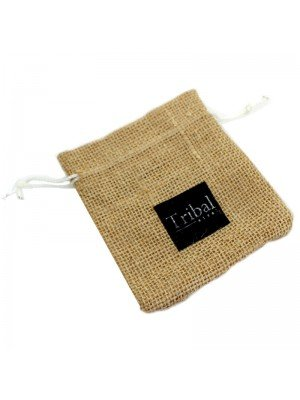 Tribal Steel - Hessian String Jewellery Bag