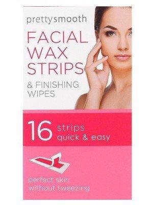Pretty Smooth Facial Wax Strips - 16 strips
