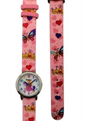 Ravel Girls Princess Design Watch-Pink