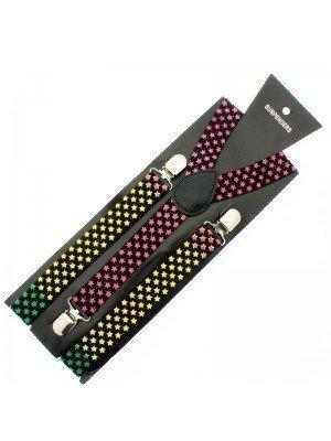 Printed Fashion Braces - Coloured Stars