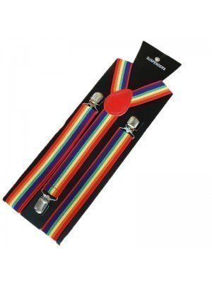 Wholesale Printed Fashion Braces - Rainbow Print