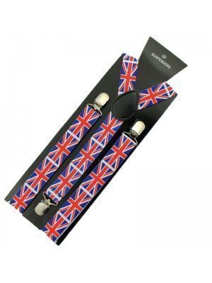 Printed Fashion Braces - Union Jack Print