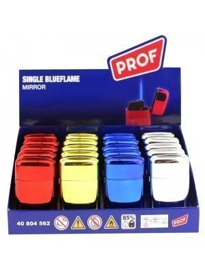 Wholesale PROF Blue Jet Flame Mirror Refillable Lighters