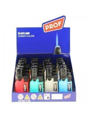 Wholesale PROF Blue Jet Flame Refillable Lighters - Rubber