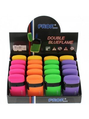 PROF Double Blue Jet Flame Capsule Electronic Lighters Trendy Colours