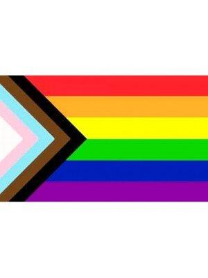 Rainbow Progress Pride Flag - 3ft x 2ft
