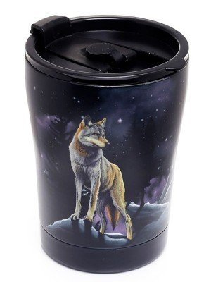 Protector of the North Wolf Reusable Stainless Hot & Cold Thermal Insulated Food & Drink Cup - 300ml