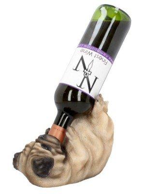 Pug Dog Guzzler Wine Bottle Holder