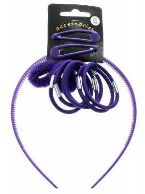 Wholesale Back to School Hair Accessory Set - Purple