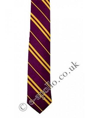 Purple Tie with Yellow Stripes