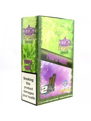 Wholesale Juicy Jay's Double Hemp Wraps - Enhanced Purple Wave