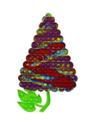 Wholesale Push & Pop Bubble Rainbow Fidget Toy - Grapes