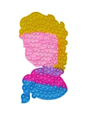 Wholesale Push & Pop Bubble X-Large Rainbow Fidget Toy - Princess