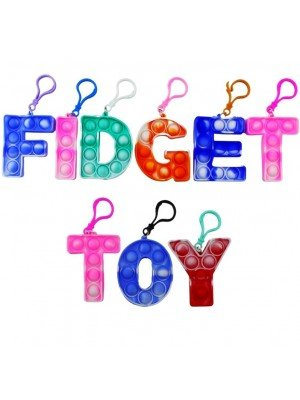 Wholesale Push Pop 26 Alphabet Set Stress Relief Fidget Toy Keyrings