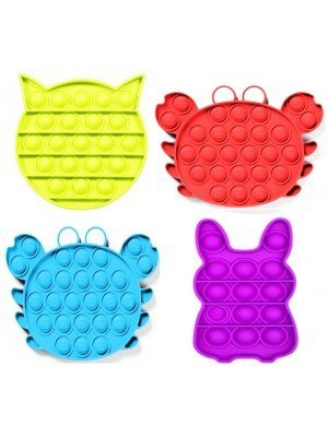 Push Pop It Bubble Sensory Fidget Stress Anxiety Reliever Toy - Assorted Animal