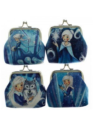 Wholesale PVC Ice Princess Design Coin Purse - Assorted