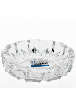Wholesale Qianli Natural Type Glass Ash-Tray Clear - Round