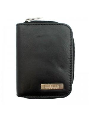 Ladies Genuine Leather Small Purse - Black